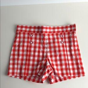 Janie and Jack gingham shorts
